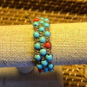 Jewelry - Handmade Jewelry 2/$15! Triple Macrame Bracelet!
